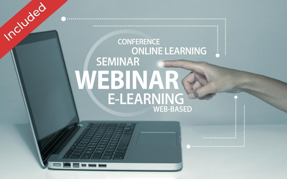 Webinar conferencing  is included in this package